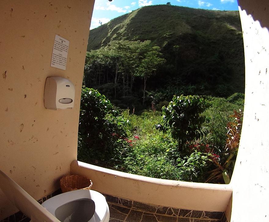 The Most Scenic Toilet In Peru