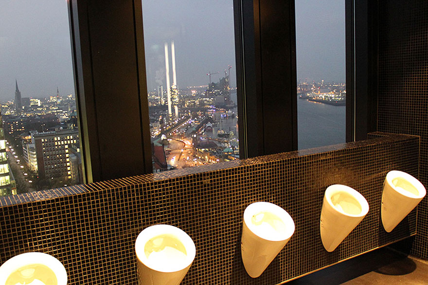 view from the 20up bar urinal in hamburg germany bored panda. Black Bedroom Furniture Sets. Home Design Ideas