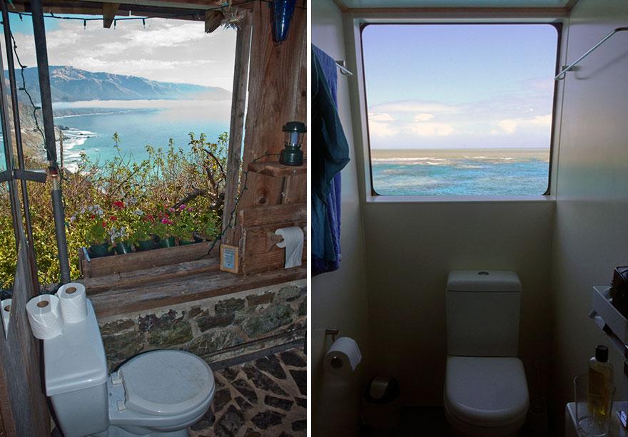 California, USA (left) Boat Toilet (right)