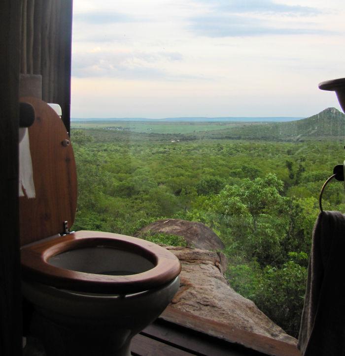Toilet In Safari Lodge, South Africa