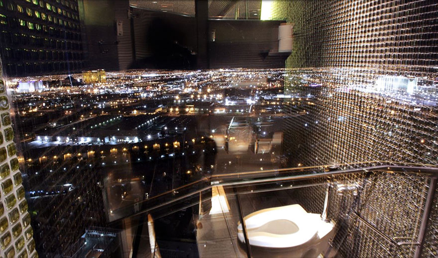 Toilet View From The Moon Nightclub At The Palms In Las Vegas