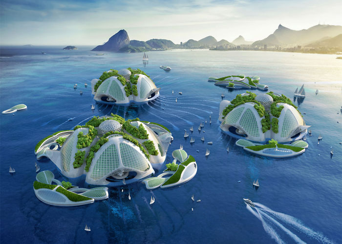 Architect Plans An Underwater Eco Village From 3D Printed Recycled Plastic