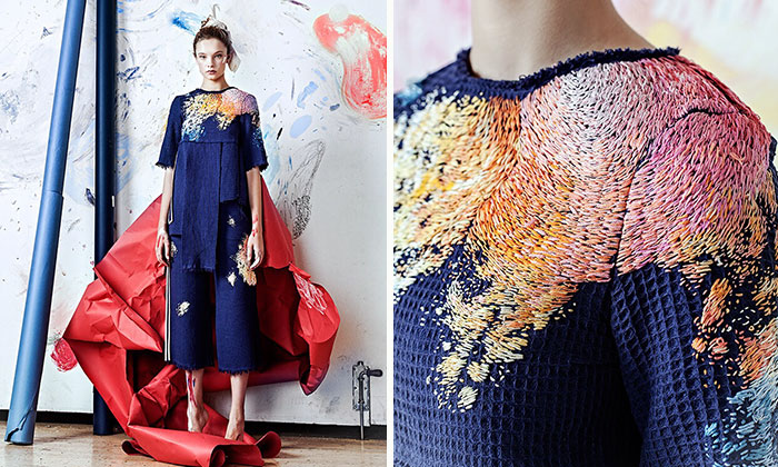 We Spent Up To 100 Hours Embroidering Paint On Clothing