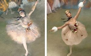 Ballerina Recreates The Paintings Of Edgar Degas