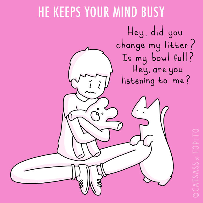 He Keeps Your Mind Busy