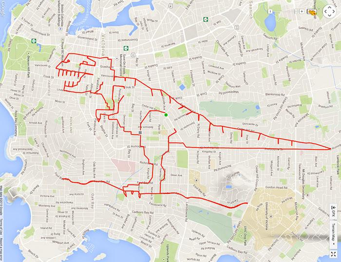 T-Rex terrorizes Beacon Hill Park (37.3 km, 1 h 43 min)