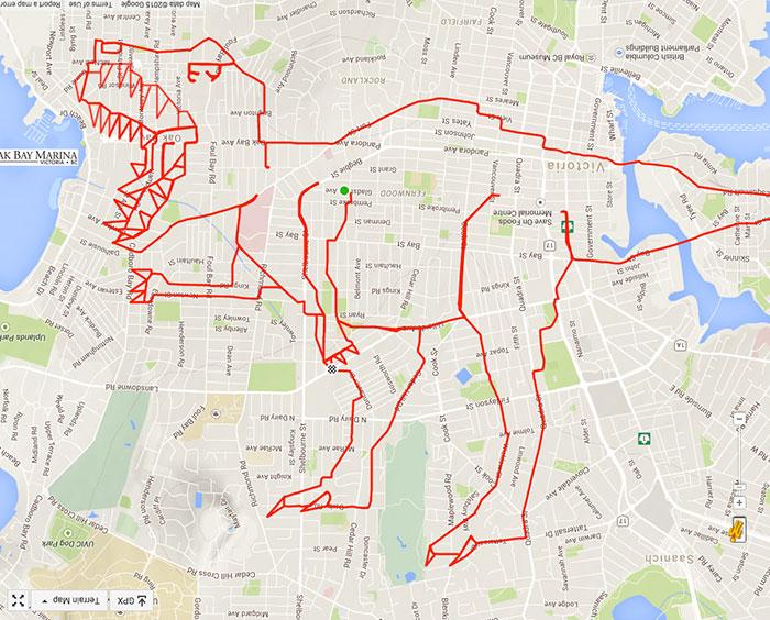 T-Rex missing some teeth (39.4 km, 1 h 43 min)