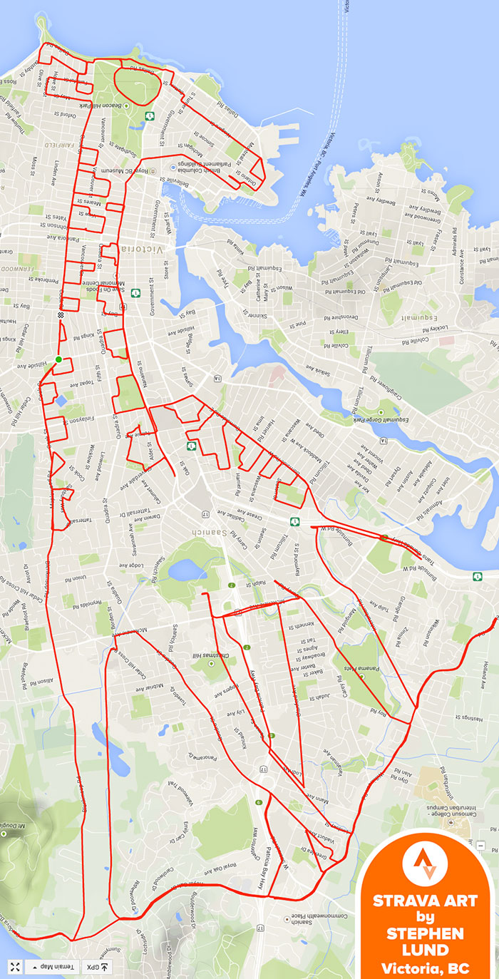 Artist Draws World S Largest Doodles By Riding His Bike With Gps