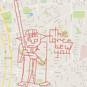 Strava Yoda (25.6 km, 1 h 25 min)