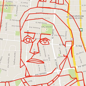 Artist Draws World's Largest Doodles By Riding His Bike With GPS