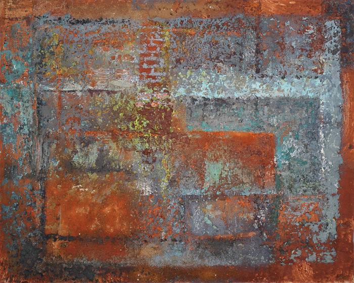 Brooke Lanier Uses Bricks To Make Paintings Of Derelict Buildings.