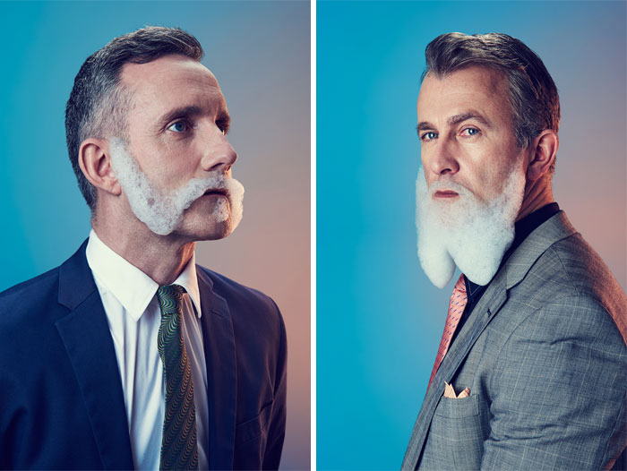 I Shoot Men With Bubble Beards To Show How Temporary Trends Can Be