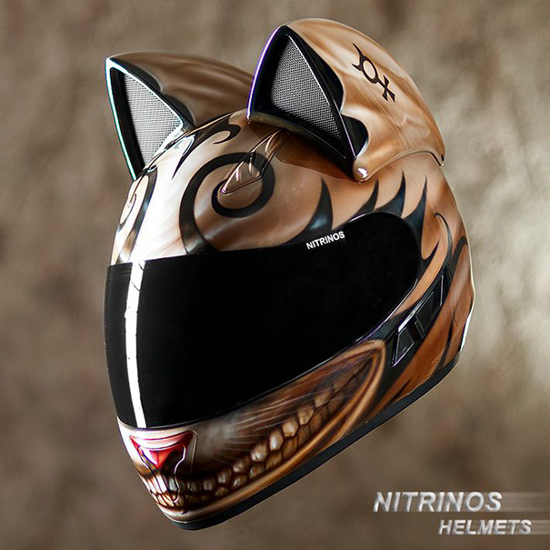 cat helmets with ears from russia bored panda. Black Bedroom Furniture Sets. Home Design Ideas