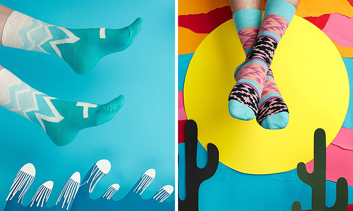 We Missed Summer So We Created Colorful Socks For Grey Winter Days