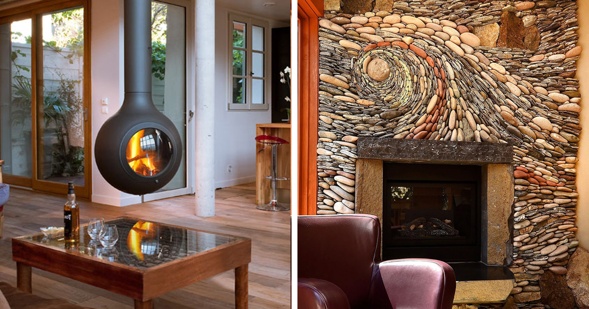 20+ Of The Coolest Fireplaces Ever | Bored Panda
