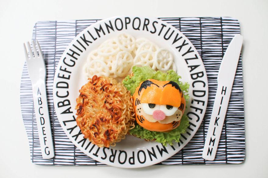 Garfield Ramen Burger