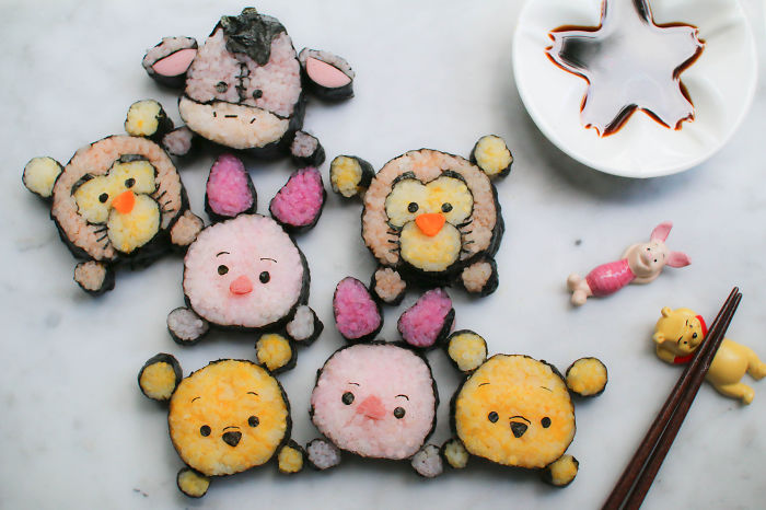 Pooh Bear & Friends Deco Sushi