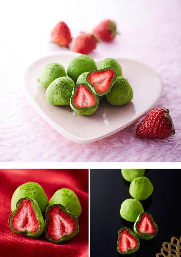 Matcha Chocolate Covered Strawberries