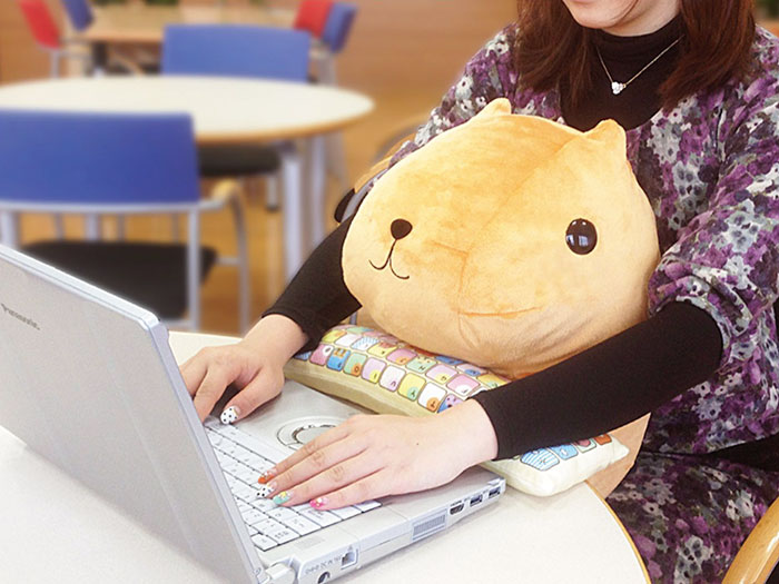 Cute Lap Buddies That Protect Your Wrists And Keep You Company
