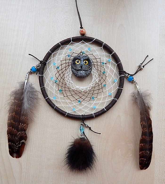 Dream Catcher With Short-eared Owl