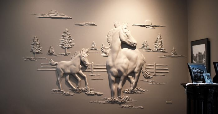 User submission & Drywall Worker Creates Stunning 3D Art Using Only Joint Compound ...