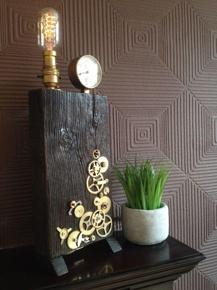 Edison Cog And Pressure Lamp.