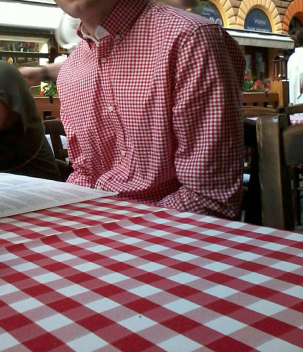 The Waiter Never Noticed Him...