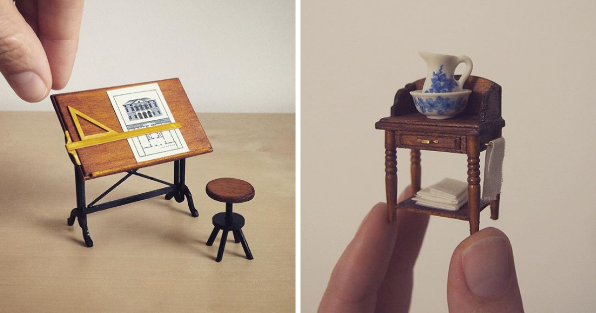 I Quit My Job As A Lawyer To Make Tiny Furniture | Bored Panda