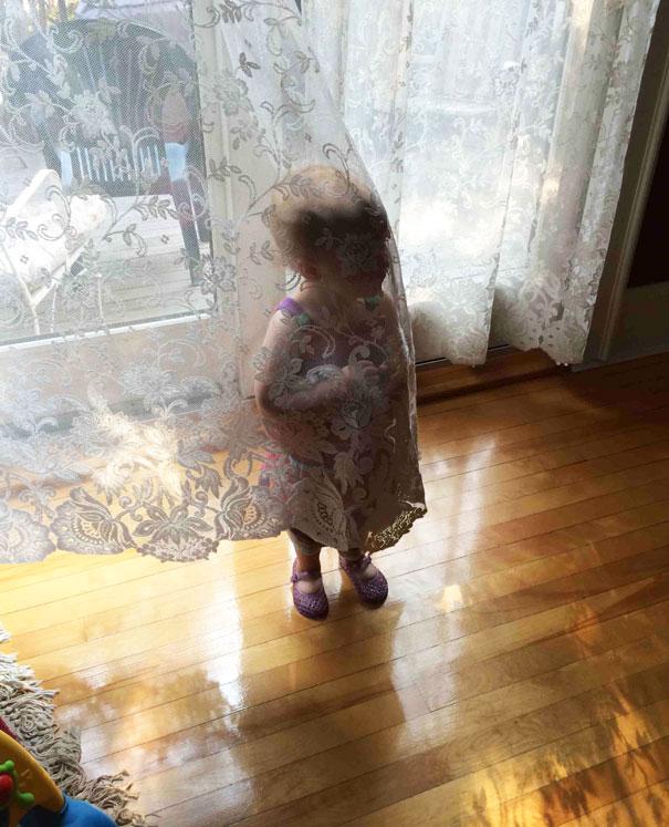My Daughter Isn't Very Good At Hide And Seek Yet