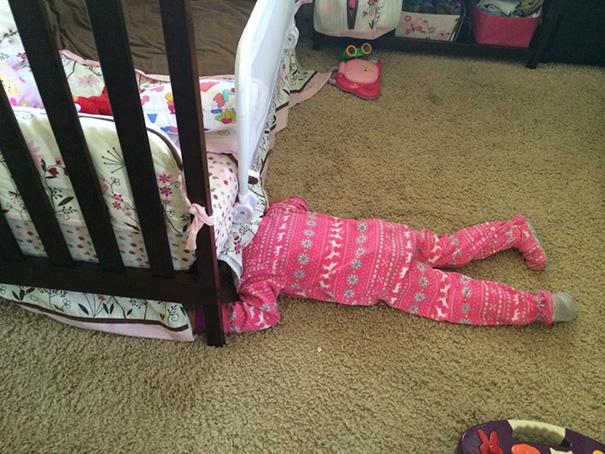 My Now 3 Year Old Has Gotten A Lot Better Than In This Pic But She Loves To Laugh While Hiding