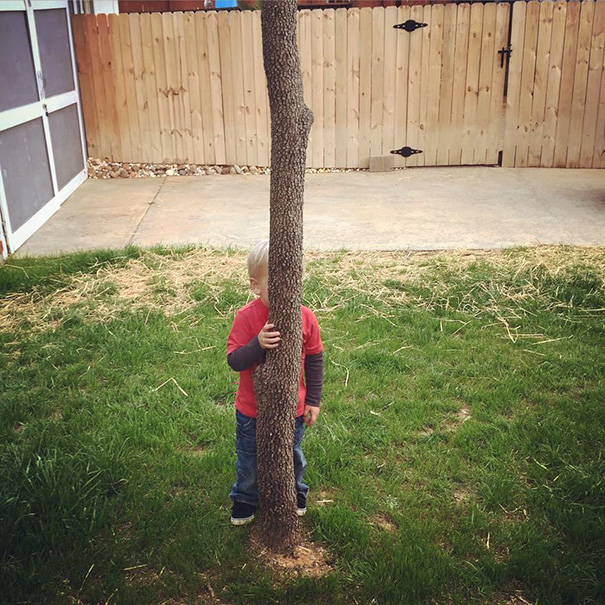 Two Year Old Ethan. Hide & Seek Champion