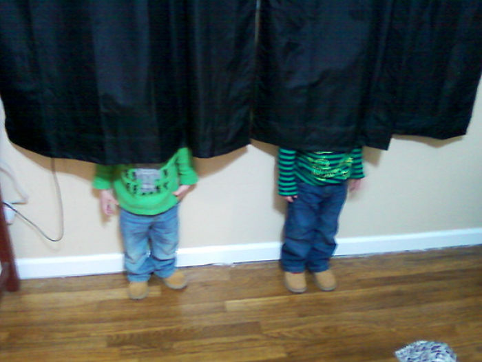Boys And Their Infinate Toddler Wisdom Hiding From Mommy