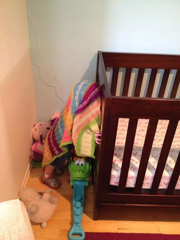 Playing Hide And Seek With A 1,5 Year Old