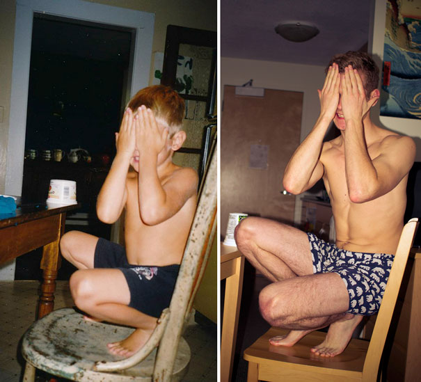 Me Playing Hide & Seek On A Chair In My Underwear, Aged 5 And 20