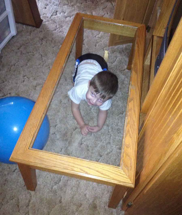 Was Playing Hide And Seek With My Friend's Son. I Guess He Can Only Get Better
