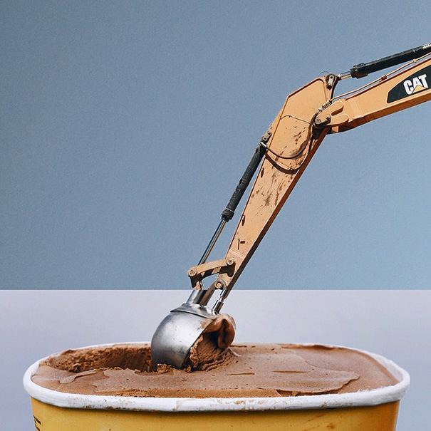 Excavator + Ice Cream Scoop