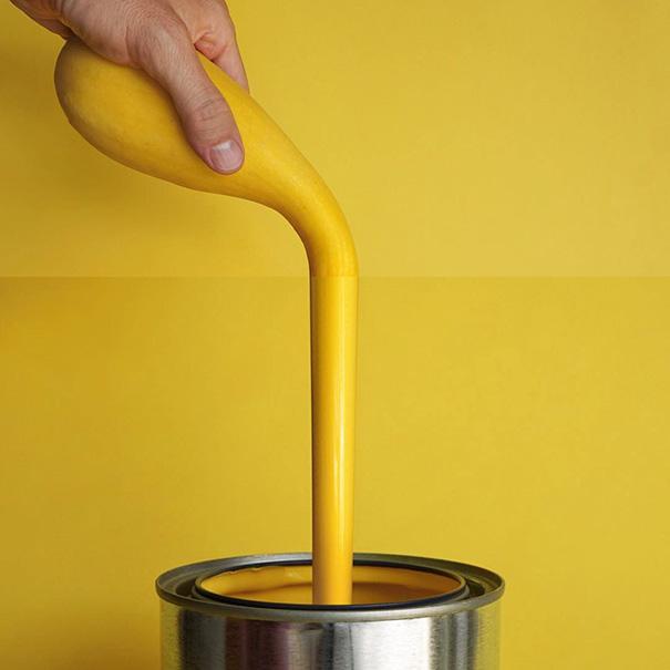 Yellow Squash + Yellow Paint