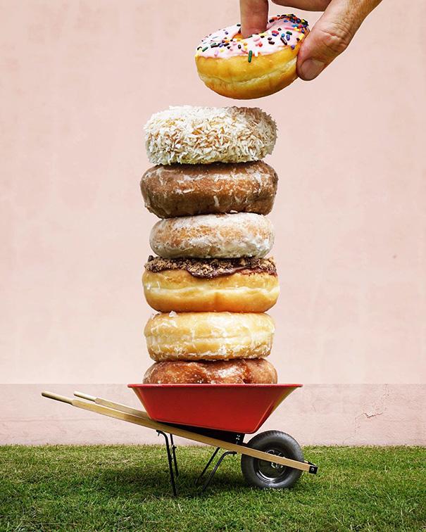 Donuts + Wheelbarrow