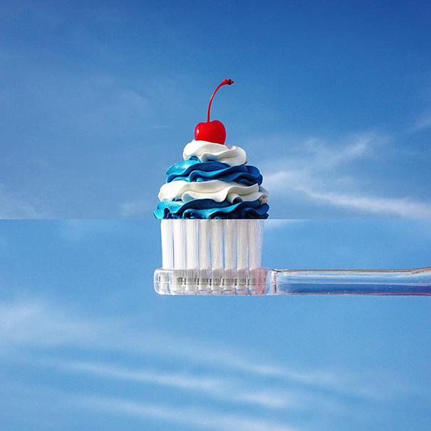 Cupcake + Toothbrush