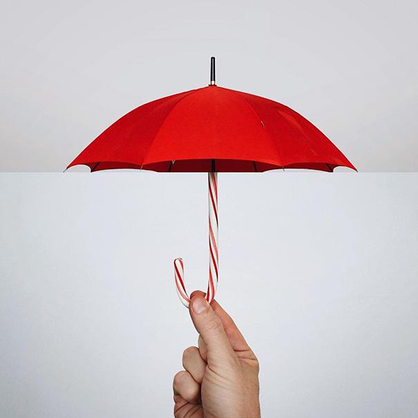 Umbrella + Candy Cane