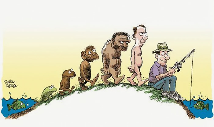 Evolution Fisherman