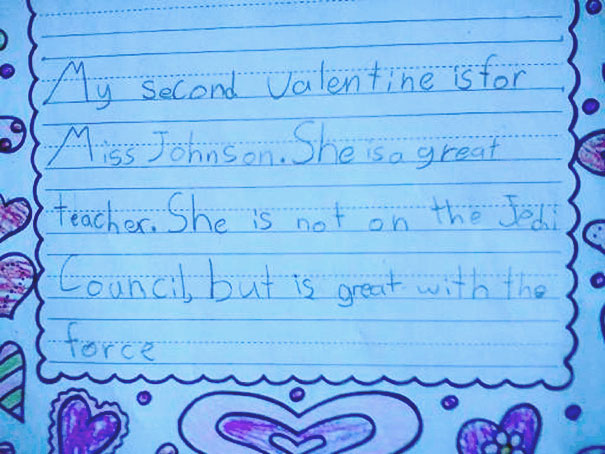 Valentine's Letter From Kid To Teacher