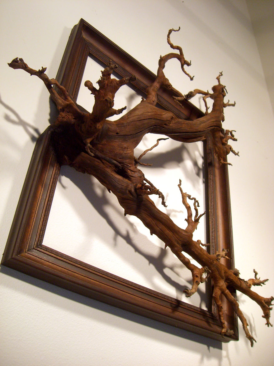 I give a second life to dead trees by fusing them with for Making a large picture frame