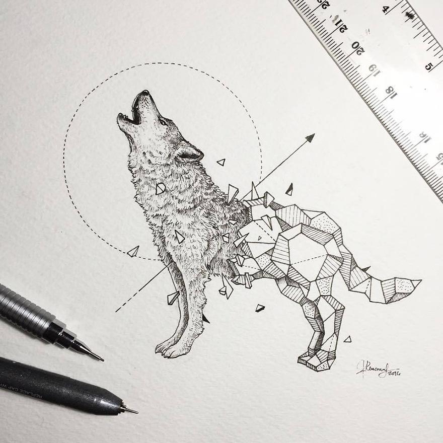 Рисунки для срисовки волки аниме