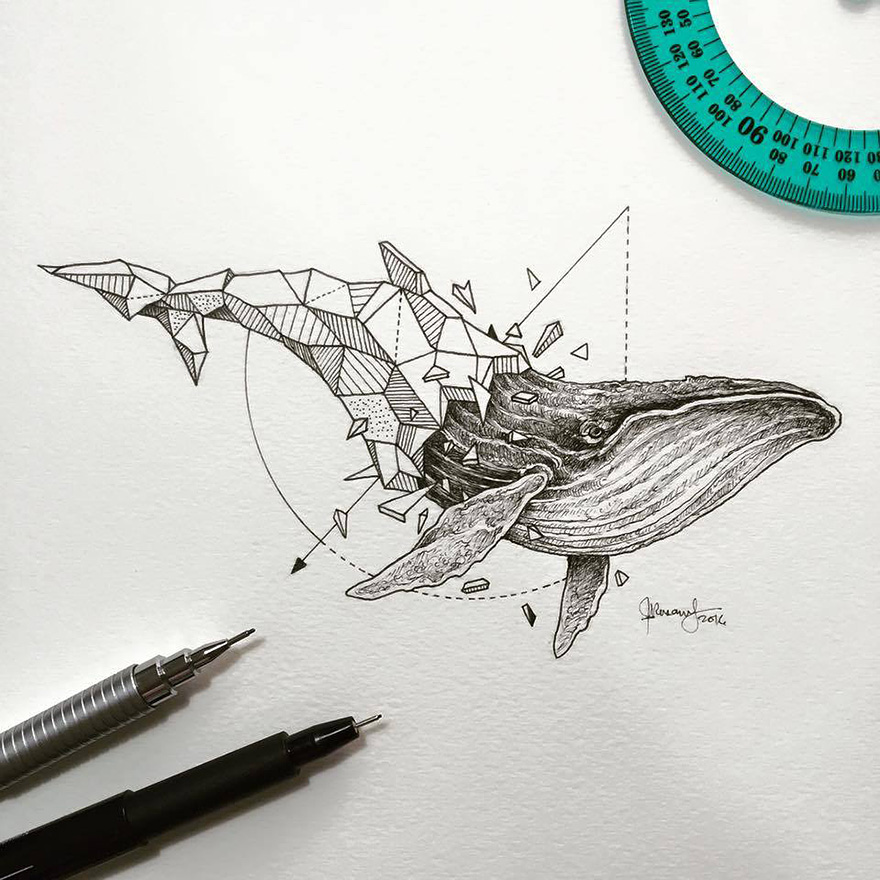 Kerby Rosanes - Geometric Beasts ballena