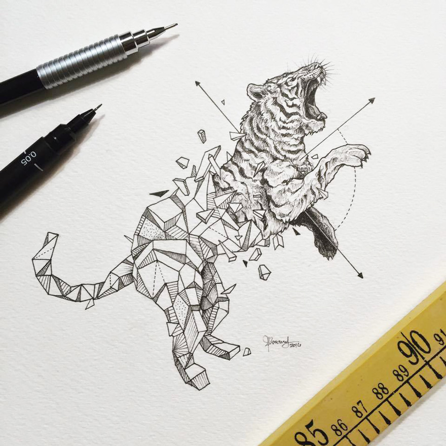 Kerby Rosanes - Geometric Beasts tigre