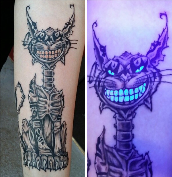 49 Awesome Glow In The Dark Tattoos Visible Under Black Light ...
