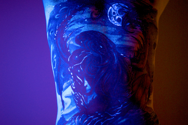Glow In The Dark Cthulhu Tattoo