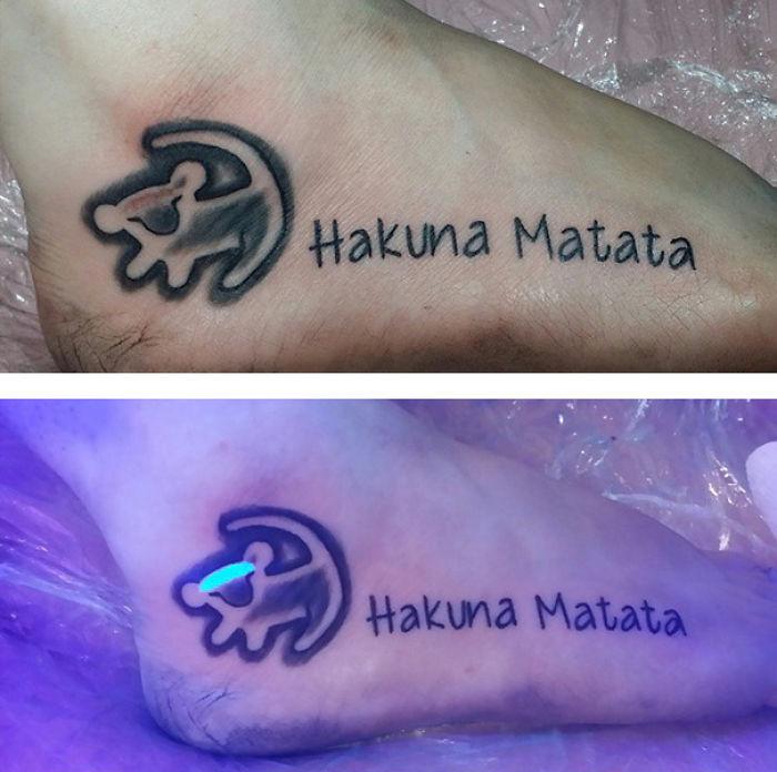 Hakuna Matata Uv Tattoo Bored Panda