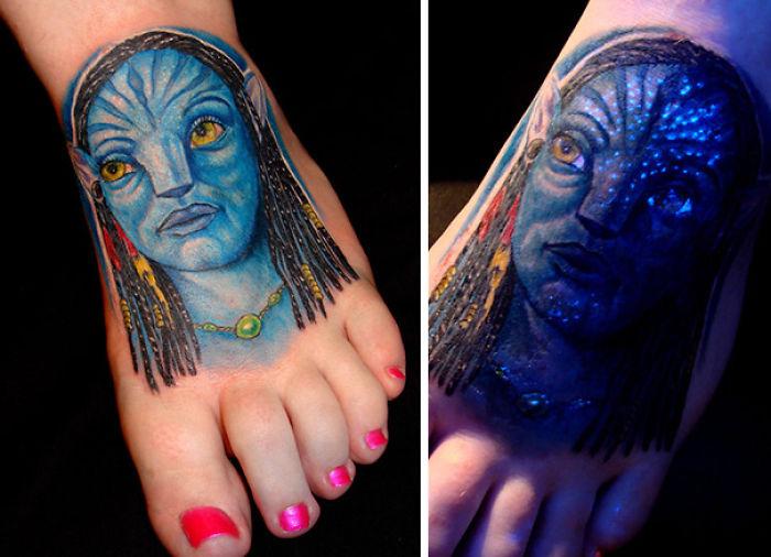 Glow In The Dark Avatar Tattoo